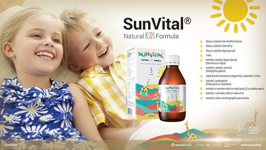 imunita dětí zdravé děti DuoLife Natural KIDS Formula SunVital
